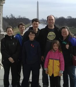 Our daughter Cindy & Family at March for Life!