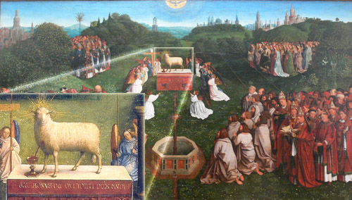 Adoration of the Lamb_van_Eyck_inset