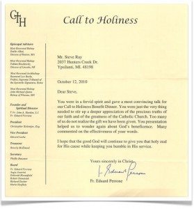 Call to Holiness Letter
