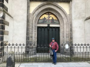 Steve at Wittenberg Door in Germany