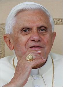 Pope Benedict XVI thinking