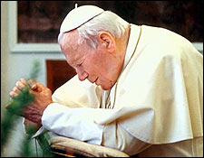 pope.john.paul.II.prays